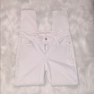 Old Navy rockstar mid-rise white jeans